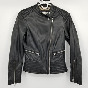 H&M Moto Style Faux Leather Jacket